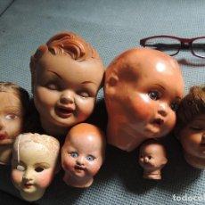 Muñecas Modernas: LOTE 7 CABEZAS MUÑECOS ANTIGUOS . Lote 103294939