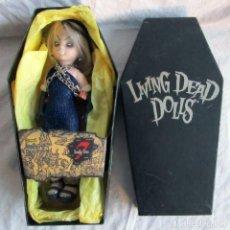 Muñecas Modernas: LIVING DEAD DOLLS FIGURA GREED SERIE 7 PECADOS CAPITALES. EN CAJA ATAUD. Lote 104545315