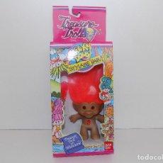Muñecas Modernas: WACKY DOOS TROLLS-PELO NARANJA, OVAL NARANJA. ORIGINAL AÑOS 80/90. MARCA: BAN DAI. NUEVO!. Lote 105027423