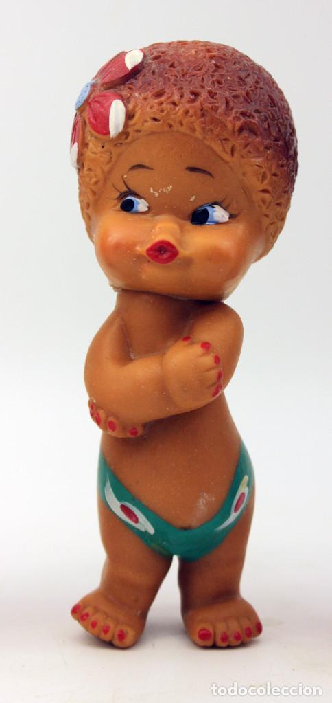 Muñecas Modernas: LOTE DE 3 ANTIGUOS MUÑECOS DE GOMA - MARCADOS EN LA NUCA CON CUBA - PROBABLE AÑOS 60 / 70 - Foto 6 - 105812079