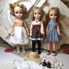Muñecas Modernas: VINTAGE 1965 VOGUE BIG EYES LOVE ME LINDA LOTE 3 MUÑECAS CON CUERPO DE VINILO PRIMERA EDICIÓN . Lote 105971579