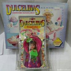 Muñecas Modernas: DULCELINAS. MUÑECA SOLETE Y DORMITORIO BANANA SPLIT. NUEVO EN CAJA BLISTER. TONKA. KENNER. 1991.. Lote 107687304