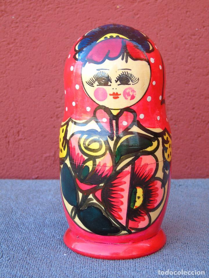 Muñecas Modernas: MATRIUSKA, MATRIOSHKA. 5 MUÑECAS ENCAJABLES DE MADERA, DECORACIÓN A MANO - Foto 2 - 109609383