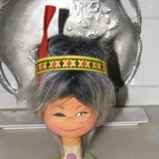 Muñecas Modernas: NIÑA - INDIA - MUÑECA - CABEZA -AÑOS 70. Lote 113346723