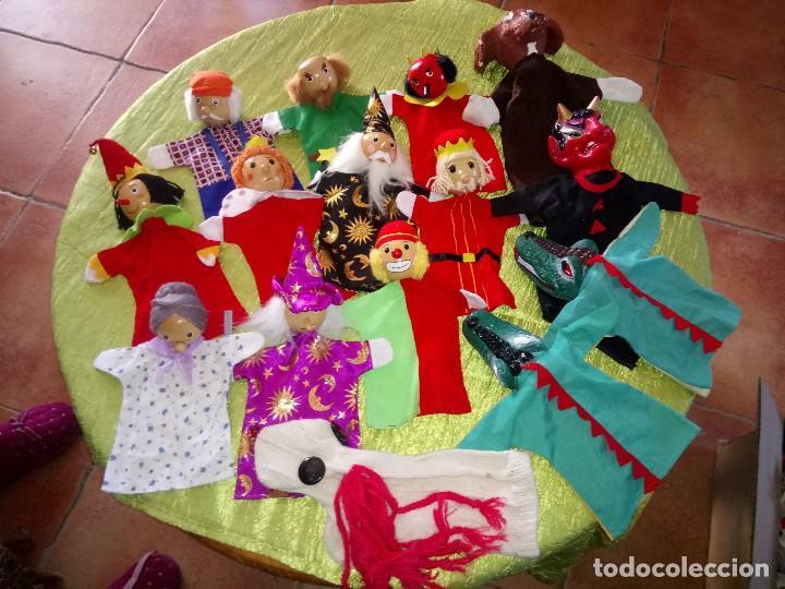 GRAN LOTE DE MARIONETAS DE TRAPO Y MADERA,UNA ES DE CARTÓN Y PASTAS. (Juguetes - Muñeca Extranjera Moderna - Otras Muñecas)