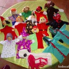 Muñecas Modernas: GRAN LOTE DE MARIONETAS DE TRAPO Y MADERA,UNA ES DE CARTÓN Y PASTAS.. Lote 116962123