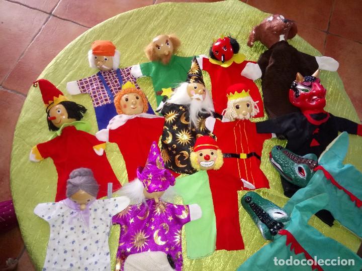 Muñecas Modernas: Gran lote de marionetas de trapo y madera,una es de cartón y pastas. - Foto 2 - 116962123