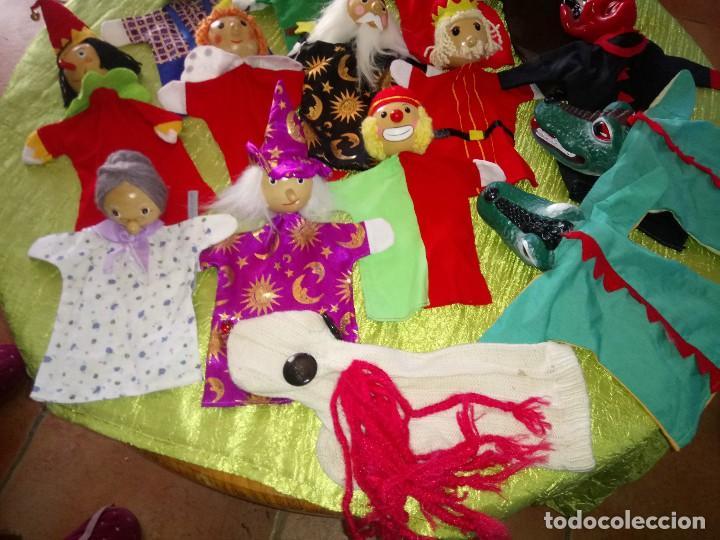 Muñecas Modernas: Gran lote de marionetas de trapo y madera,una es de cartón y pastas. - Foto 3 - 116962123