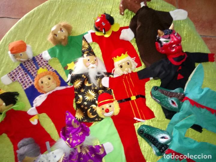Muñecas Modernas: Gran lote de marionetas de trapo y madera,una es de cartón y pastas. - Foto 4 - 116962123