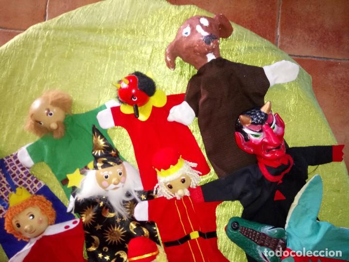 Muñecas Modernas: Gran lote de marionetas de trapo y madera,una es de cartón y pastas. - Foto 5 - 116962123