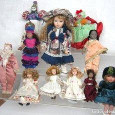 Muñecas Modernas: LOTE MUÑECAS VARIADAS PORCELANA VINTAGE. Lote 117854079