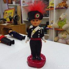 Muñecas Modernas: MUÑECO CELULOIDE GUARDIA ROMANO POLICÍA ITALIA AÑOS 60 OJOS DURMIENTES. Lote 118470551