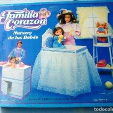 Poupées Modernes: FAMILIA CORAZON NURSEY DE LOS BEBES. CAJA NUEVA . DE MATTEL. ¡¡NUEVO, A ESTRENAR!! AÑOS 80.. Lote 132578823