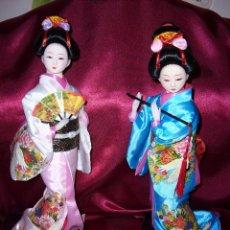Moderne Puppen - MUÑECA ORIENTAL-EN ROSA Y AZUL-JAPONESA-CHINA-NUEVAS-PRECIOSAS-BODA-COMUNIÓN-NAVIDAD-ASI - 122297591
