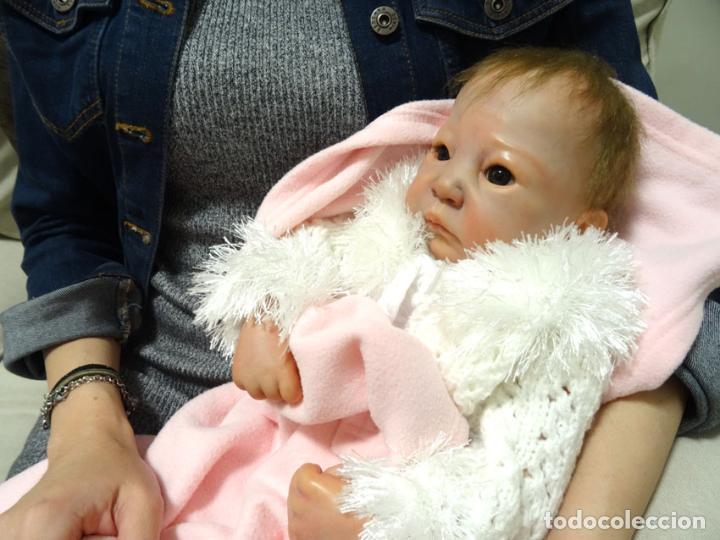 Muñecas Modernas: Preciosa muñeca bebé reborn Anna Marie con certificado - Foto 4 - 123440879