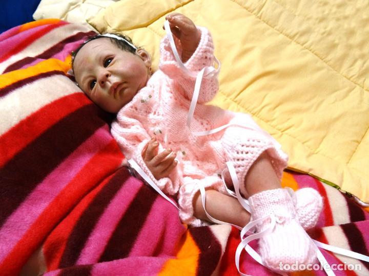 Muñecas Modernas: Muñeca bebé reborn Simone de Virginia Ullrich con certificado - Foto 6 - 123526507