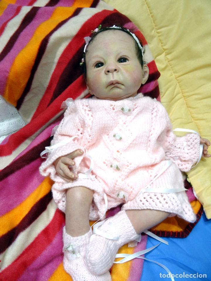 Muñecas Modernas: Muñeca bebé reborn Simone de Virginia Ullrich con certificado - Foto 8 - 123526507