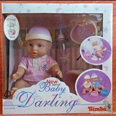 Muñecas Modernas: MUÑECA BEBÉ DE JUGUETE VINTAGE DE LA MARCA JUGUETERA SIMBA TOYS. NEW BORN BABY DARLING DRINK WET.. Lote 123551219