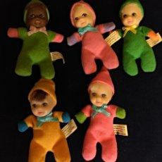 Muñecas Modernas: 5 MUÑECOS MINI BEAN DOLL, BABY WILLIANN...... Lote 130047807
