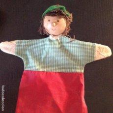 Muñecas Modernas: MARIONETA DE MANO CABEZA MADERA. Lote 130065319