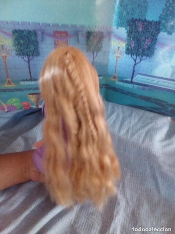 Muñecas Modernas: preciosa muñeca Rapunzel de disney con larga trenza leer - Foto 3 - 131651042