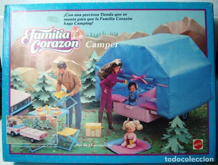 FAMILIA CORAZON CAMPER CAJA NUEVA . DE MATTEL. ¡¡NUEVO, A ESTRENAR!! AÑOS 80.