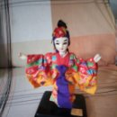 Muñecas Modernas: PRECIOSA MUÑECA GEISHA DE TEJIDO,GOMA Y PELO DE MOAHIR.. Lote 133052086