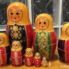 Muñecas Modernas: ANTIGUA MATRIOSHKA, 9 MUÑECAS. Lote 133966358