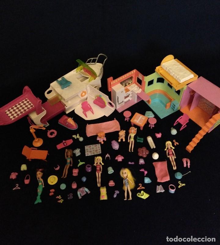 Muñecas Modernas: Lote de muñecos Polly Pocket Yate y casa,con muñecas y complementos. - Foto 2 - 135358046