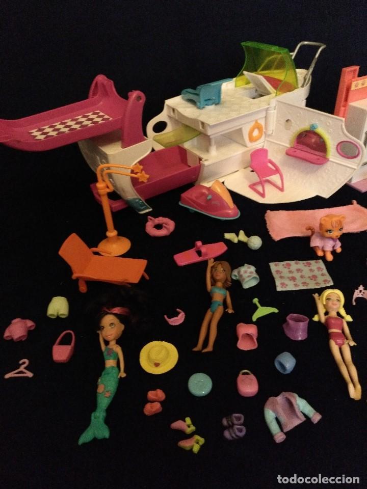 Muñecas Modernas: Lote de muñecos Polly Pocket Yate y casa,con muñecas y complementos. - Foto 3 - 135358046
