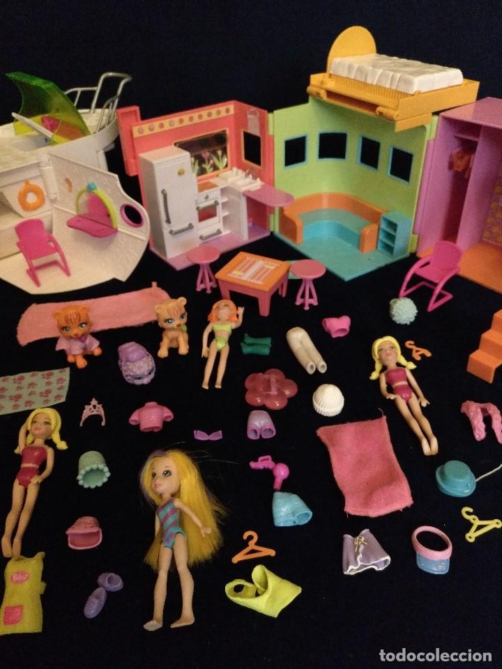 Muñecas Modernas: Lote de muñecos Polly Pocket Yate y casa,con muñecas y complementos. - Foto 5 - 135358046