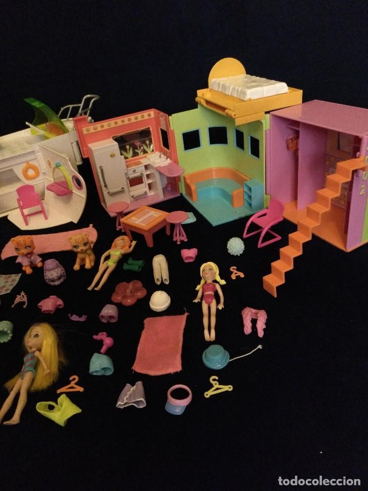 Muñecas Modernas: Lote de muñecos Polly Pocket Yate y casa,con muñecas y complementos. - Foto 6 - 135358046