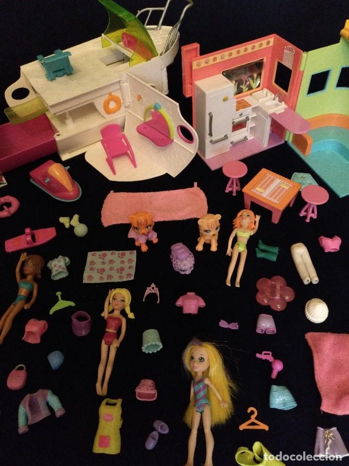 Muñecas Modernas: Lote de muñecos Polly Pocket Yate y casa,con muñecas y complementos. - Foto 8 - 135358046