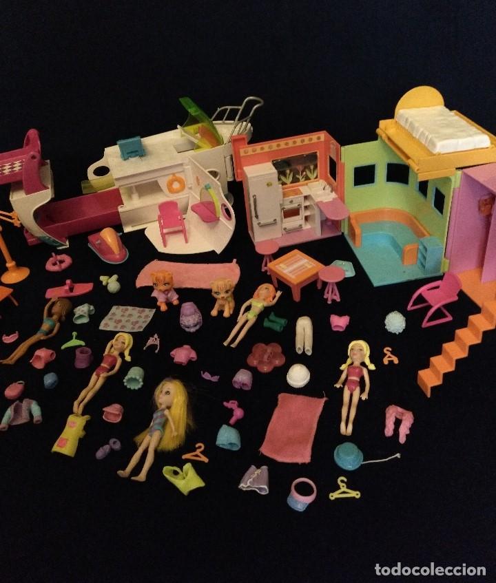 Muñecas Modernas: Lote de muñecos Polly Pocket Yate y casa,con muñecas y complementos. - Foto 11 - 135358046