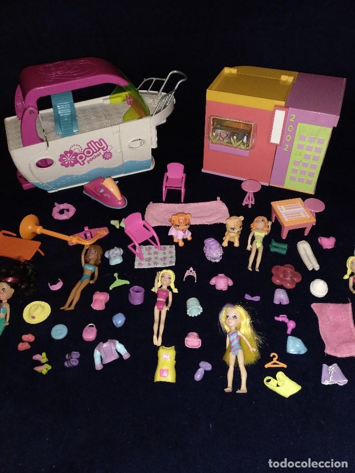 Muñecas Modernas: Lote de muñecos Polly Pocket Yate y casa,con muñecas y complementos. - Foto 16 - 135358046