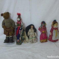 Muñecas Modernas: LOTE DE 5 ANTIGUA MUÑECA EXTRANJERA, VARIEDAD DE MUÑECAS DEL MUNDO.. Lote 138709826