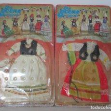 Muñecas Modernas: PAREJA DE TRAJES REGIONALES PARA MUÑECAS TIPO BARBIE. Lote 139820674