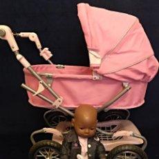 Muñecas Modernas: MUÑECO BABY BORN DE ZAPF CREATION CON COCHECITO-SILLA ORIGINAL. Lote 140527278