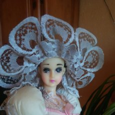 Muñecas Modernas: MUÑECA MUSICAL PARAGUAS BAILARINA CARA TIPO MANGA. Lote 141879200