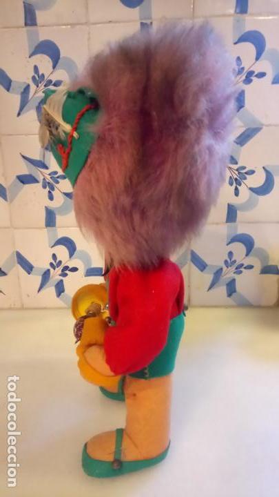 Muñecas Modernas: Antiguo muñeco payaso de ropa con luz incorporada - Foto 2 - 142782246