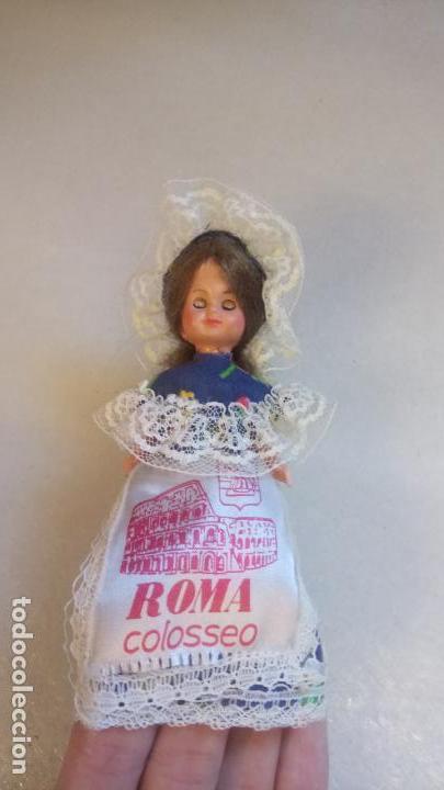 Muñecas Modernas: Antigua muñeca durmiente del coliseo de roma / italia de celuloide o plastico - Foto 2 - 142785758