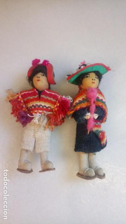 ANTIGUAS MUÑECAS DE TRAPO MEXICANAS, MEJICANAS. PAREJA DE MUÑECOS (Juguetes - Muñeca Extranjera Moderna - Otras Muñecas)