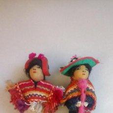 Muñecas Modernas: ANTIGUAS MUÑECAS DE TRAPO MEXICANAS, MEJICANAS. PAREJA DE MUÑECOS. Lote 142787742