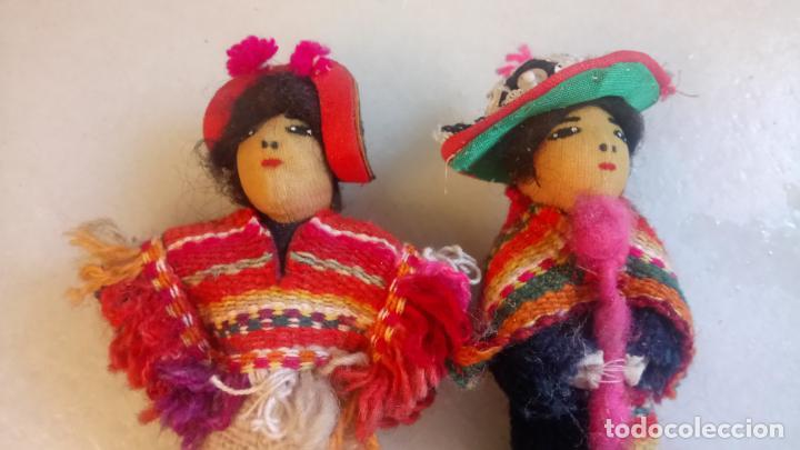 Muñecas Modernas: Antiguas muñecas de trapo mexicanas, mejicanas. pareja de muñecos - Foto 2 - 142787742