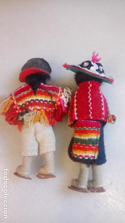 Muñecas Modernas: Antiguas muñecas de trapo mexicanas, mejicanas. pareja de muñecos - Foto 4 - 142787742