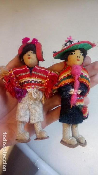 Muñecas Modernas: Antiguas muñecas de trapo mexicanas, mejicanas. pareja de muñecos - Foto 5 - 142787742