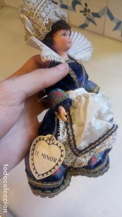 Muñecas Modernas: Antigua muñeca francesa Le minor / Marine / Marina con vestido tradicional victoriano - Foto 4 - 142788526