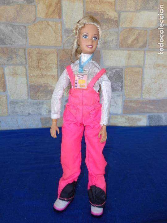 Muñecas Modernas: BONITA MUÑECA ARTICULADA TIPO BARBIE, IRENE TRAVEL PASS ASPEN, VER FOTOS Y DESCRIPCION! SM - Foto 4 - 144793018