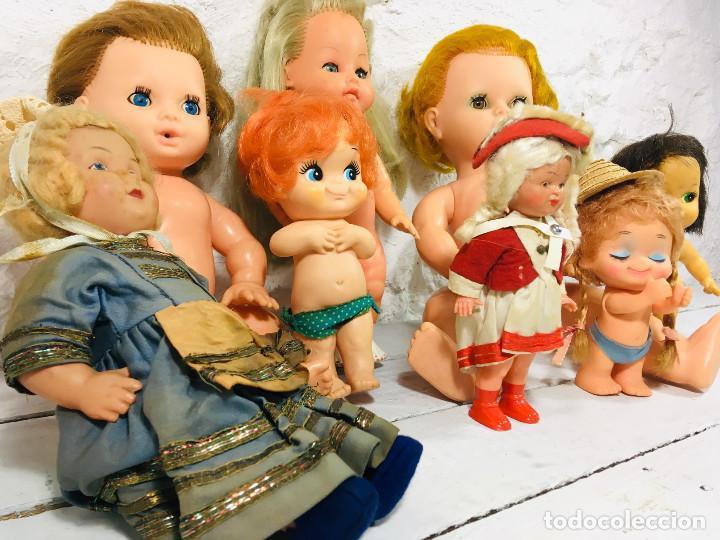Muñecas Modernas: LOTE TRES MUÑECAS VINTAGE MUÑECA DE GOMA O CELULOIDE CON PELO AÑOS 70 - Foto 13 - 148054766