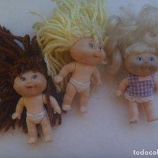 Muñecas Modernas: LOTE DE 3 MUÑEQUITAS REPOLLO DE MATTEL , 1997. Lote 211525834
